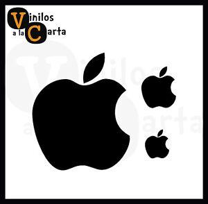 3 x Manzana Apple ordenador Vinilo Sticker Pegatina Adhesivo Vinilo Coche moto