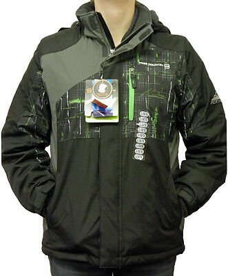 Free Country Boy/'s FCXtreme Multi-Ripstop Jacket Black//Pop Green