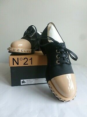 Amichevole New Leather&satin Laced Shoes N21 37/eu Made In Italy Stringate N21 Tg. 37 Nuove Né Troppo Duro Né Troppo Morbido
