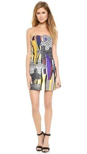 Dvf Diane von Furstenberg Mehrfarbig Maria Puzzle Trägerloses Kleid