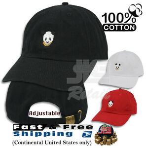 Image is loading Panda-Embroidered-Dad-Hat-Baseball-Cap-Polo-Style- e5b570591dd3