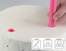 SILIKOMART SET SET 5 PIOLI DI PLASTICA 30 CM PER TORTE A PIANI CAKE DESIGN TORTA