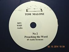 Tom Malone, No. 2, 45 Audio Sermons, MP3 one CD