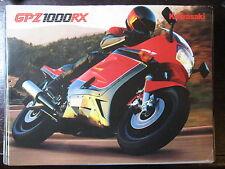 MOTO KAWASAKI GPZ 1000 RX 1986-88  CATALOGUE DEPLIANT PROSPECTUS BROCHURE