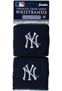 Brand-New-New-York-Yankees-Wristbands-Sweatbands-Two-Pack-Blue-MLB