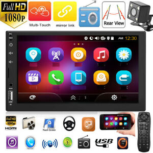 Doble-2Din-7-in-Toque-Coche-Estereo-MP5-Jugador-FM-Radio-Bluetooth-Aux-USB-Cam