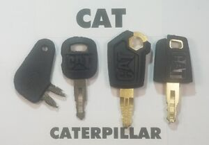 4-Caterpillar-Keys-Cat-Heavy-Equipment-Ignition-Dozer-Excavator-Skidsteer
