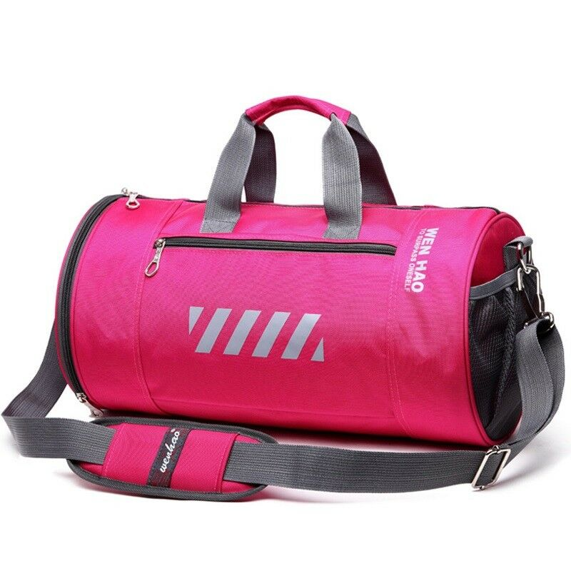 Duffle Bag Waterproof Women Sports Gym Outdoor Fitness Training Shoulder Handbag