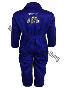 Kids-New-Holland-Tractor-Logo-Tearaway-Junior-Coverall-Overall-Boilersuit
