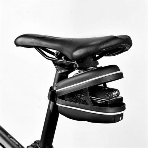 Bicycle Bag Under Seat Storage Tail Hard Pouch For Cell Phone Waterproof Durable