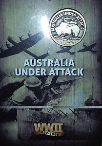 AUSTRALIA-UNDER-ATTACK-DARWIN-1942-LAPEL-PIN-WW2-MINT