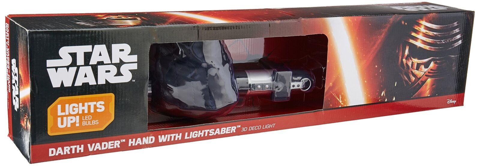 3DLightFX Marvel Darth Vader Hand with Light Saber 3D Deco LED Wall Light