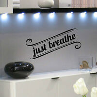 Just Breathe Stencil Wall Quote - Reusable Wall Stencils For Diy Home Decor