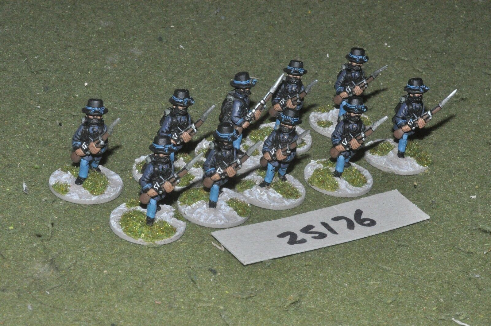 25mm ACW   union - skirmishers 10 figures - inf (25176)