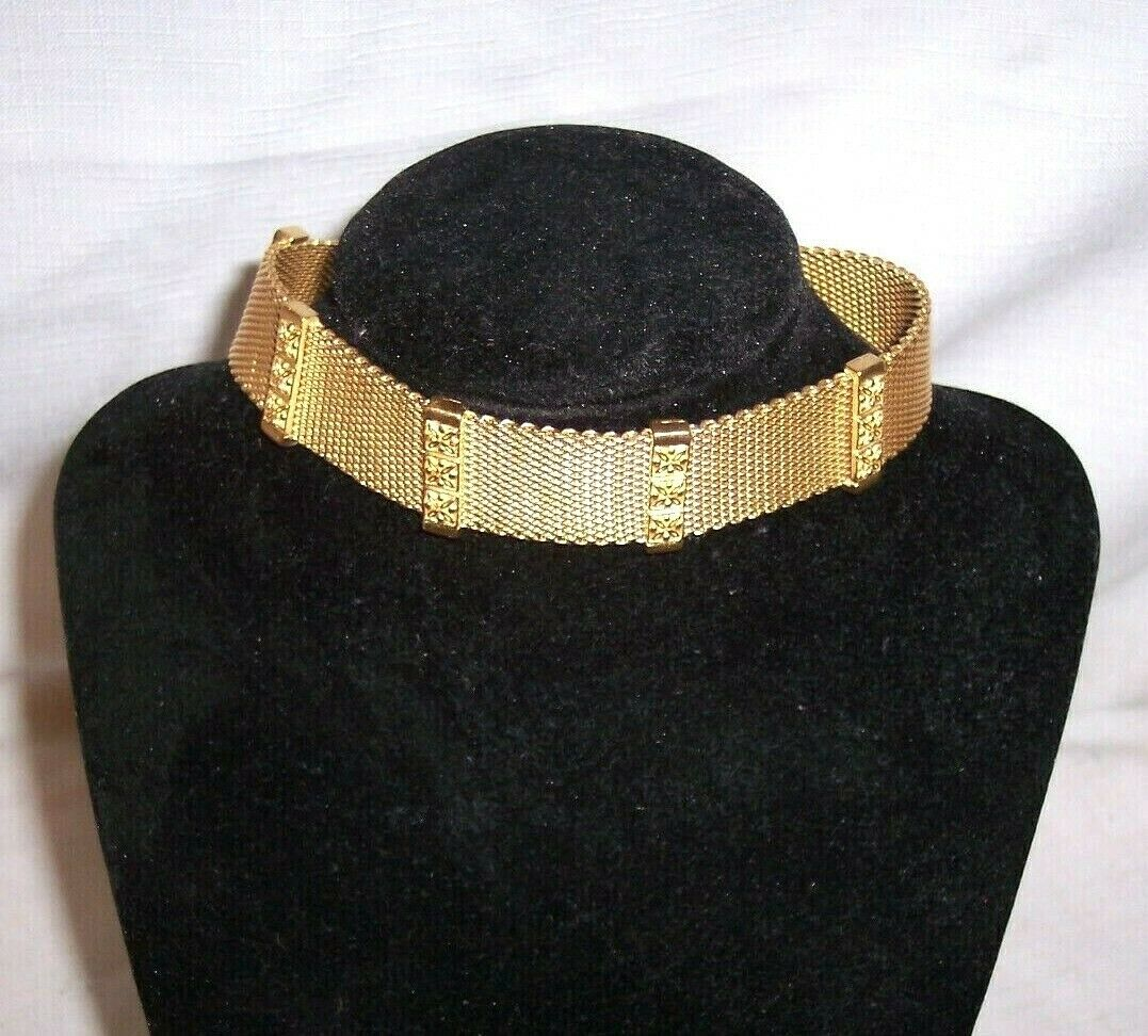 Napier vintage mesh necklace gold