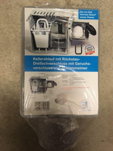 Kellerablauf RUG Mit 3-Fach  Rückstau Rückstaudreifachverschluss