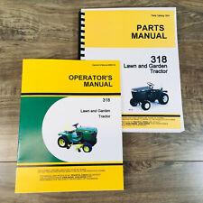 Operator Parts Manual For John Deere 318 Lawn Garden Tractor Mower Owner Catalog
