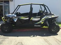 Lime Squeeze Aluminum Roof + Black Lower Doors 2017 Rzr Xp-4 1000 Package Deal
