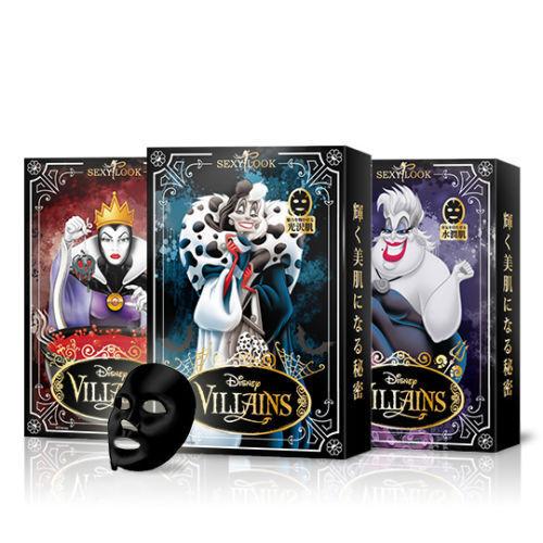 [SEXYLOOK] Disney Villains Series Intensive Care Black Cotton Facial Mask x 1 PC