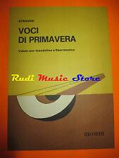 STRAUSS Voci di primavera 1977 RARO SPARTITO SINGOLO italy RICORDI cd lp dvd mc