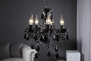 Lustre-NERO-5-armig-Noir-Lampe-a-Suspension-luminaire-41cm-x-37cm-hxo