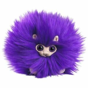 """Puffskeins Mini Purple Pygmy Puff Plush Toy 6"""" - Noble Collection"""