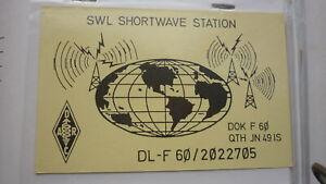 OLD-VINTAGE-QSL-HAM-RADIO-CARD-POSTCARD-BICKENBACK-WEST-GERMANY