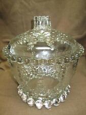 Walther Crystal Retro Ice Bucket Bubbles Glass Unusual Vintage Art Deco Bar ware