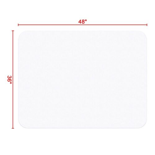 """48/"""" x 36/"""" Rectangle PVC Carpet Protector Mat for Hard Wood Floor Office Chair"""