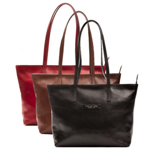 Borsa a spalla THE BRIDGE Shopper shopping bag chiusura zip donna woman made IT
