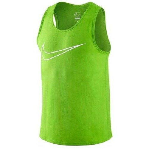 532ab00ae9fd Mens Nike Running Graphic Contour Green Tank Top Shirt Size M for sale  online