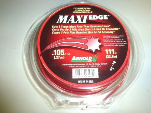 """111/' L COMMERCIAL ARNOLD MAXI EDGE .105/"""" SPOOL OF TRIMMER LINE NOS WLM-H105"""