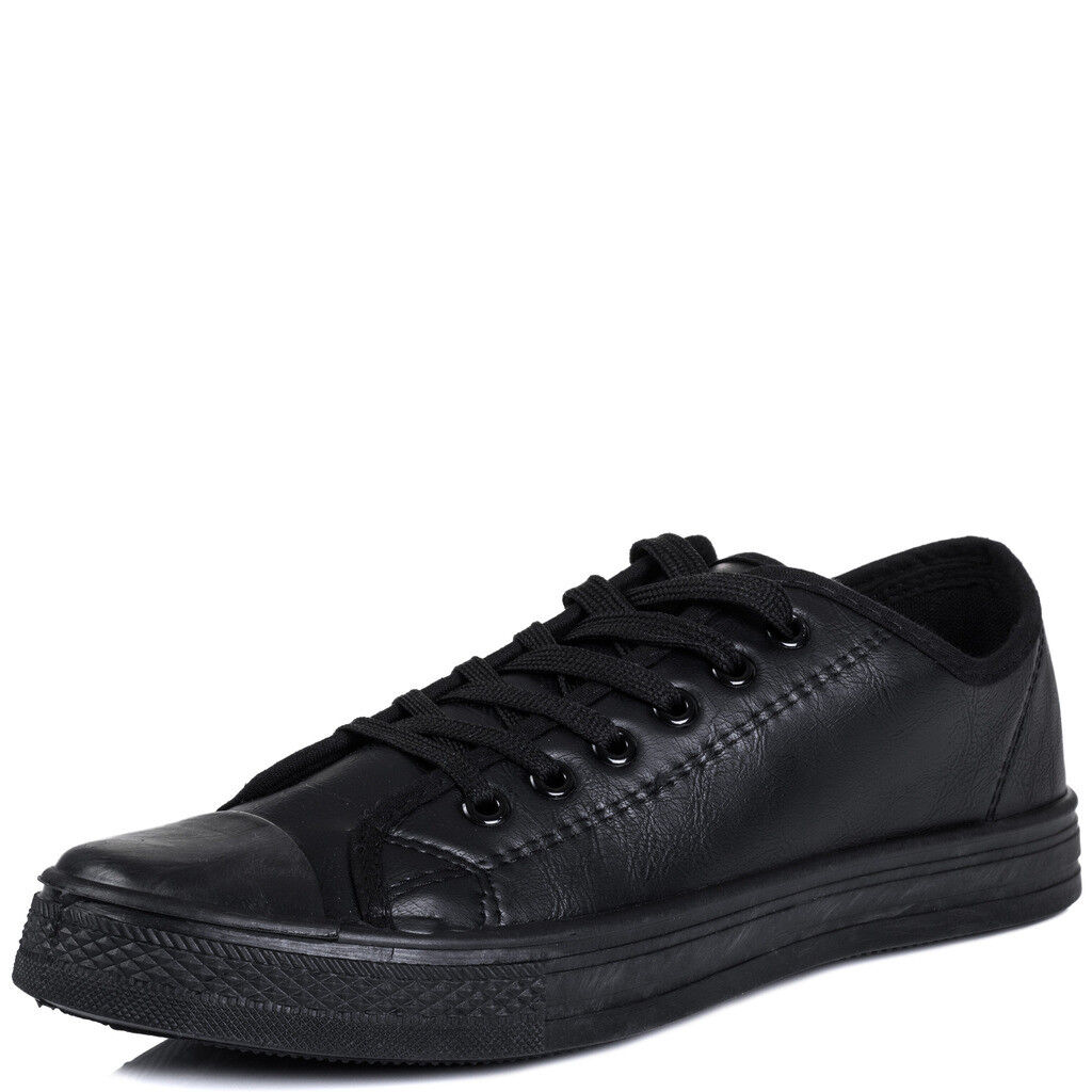cbda65f97 SpyLoveBuy Never Fear Lace up Flat Trainers Shoes Sz 3-8 Black - Synthetic  Leather UK 8 for sale online | eBay