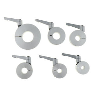 10mm 2 Pcs Heavy Duty Drill Bit Shaft Depth Split Ring Stop Collar Aluminum