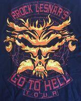 Brock Lesnar's Go To Hell Tour T Shirt Men's Small Black Wwe Wwf Ecw Ufc