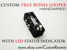 CRCUSTOMSHOP® CUSTOM TRUE BYPASS MINI LOOPER HANDWIRED USA GUITAR PEDAL