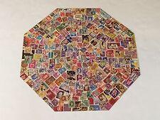 Vintage 1973 Springbok Octagonal Puzzle Postage Paid World Stamps PZL8501 -100%