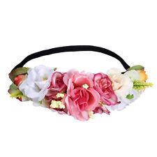 Girl Boho Flower Crown Headband Wedding Festival Garland Hairband Head band