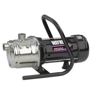 1hp Stainless Steel Portable Sprinkler Pump 20 Suction