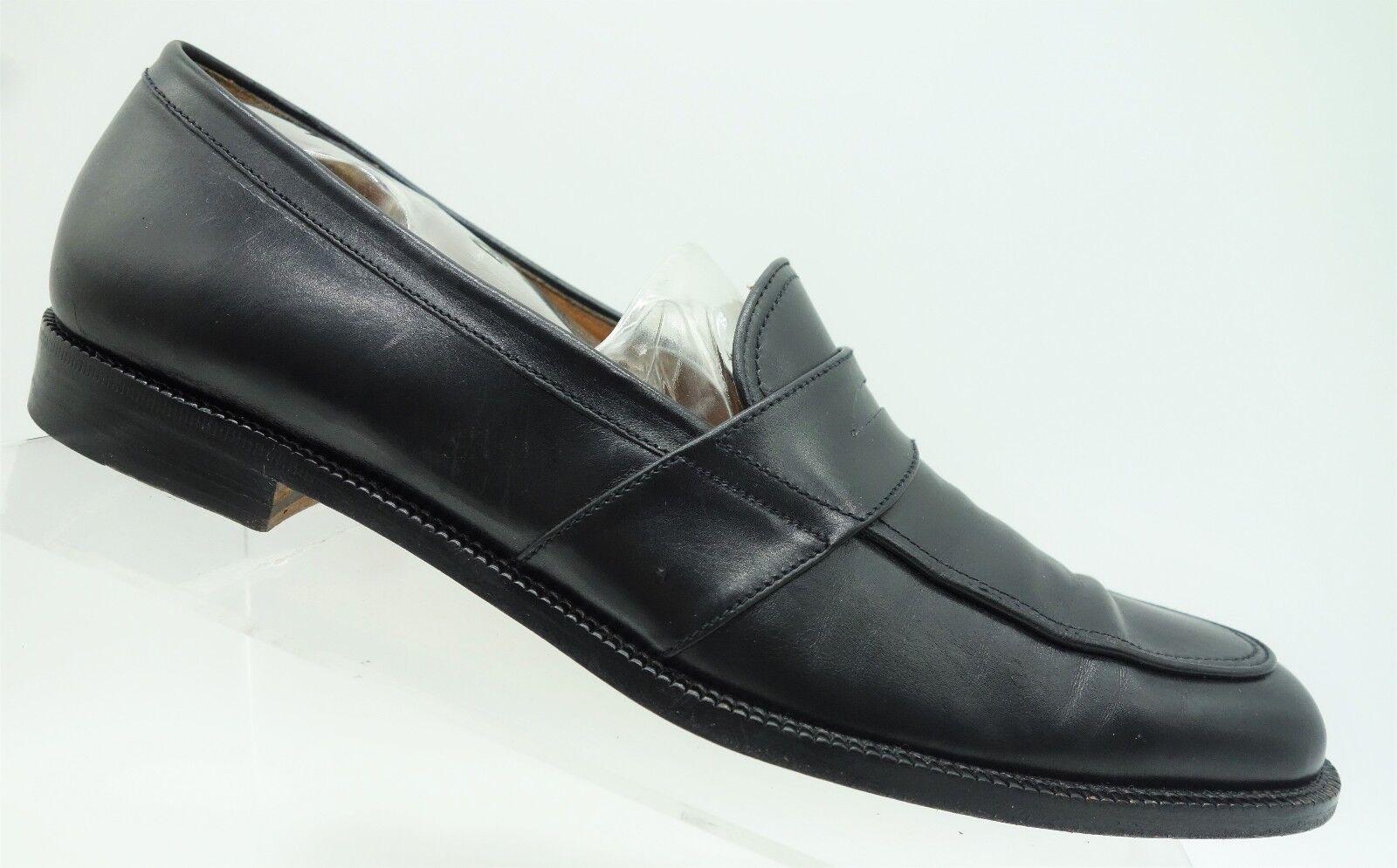 Salvatore Ferragamo Sport  Black Leather Casual Loafer Women's shoes 8 4A