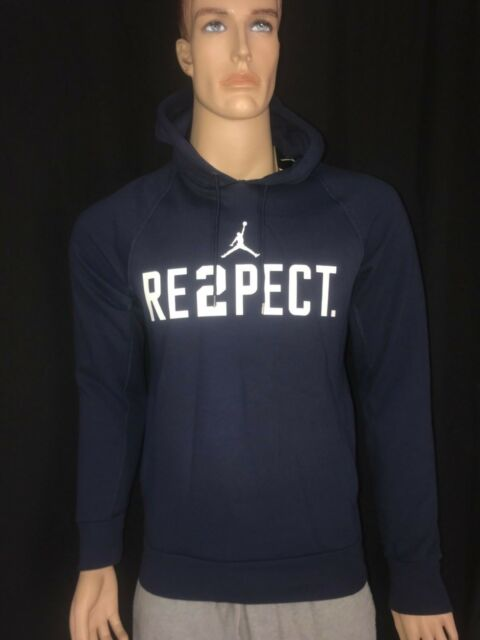 13acffcfc88 Nike Jordan New York Yankee's Derek Jeter Re2pect Retirement Hoodie Navy  Blue