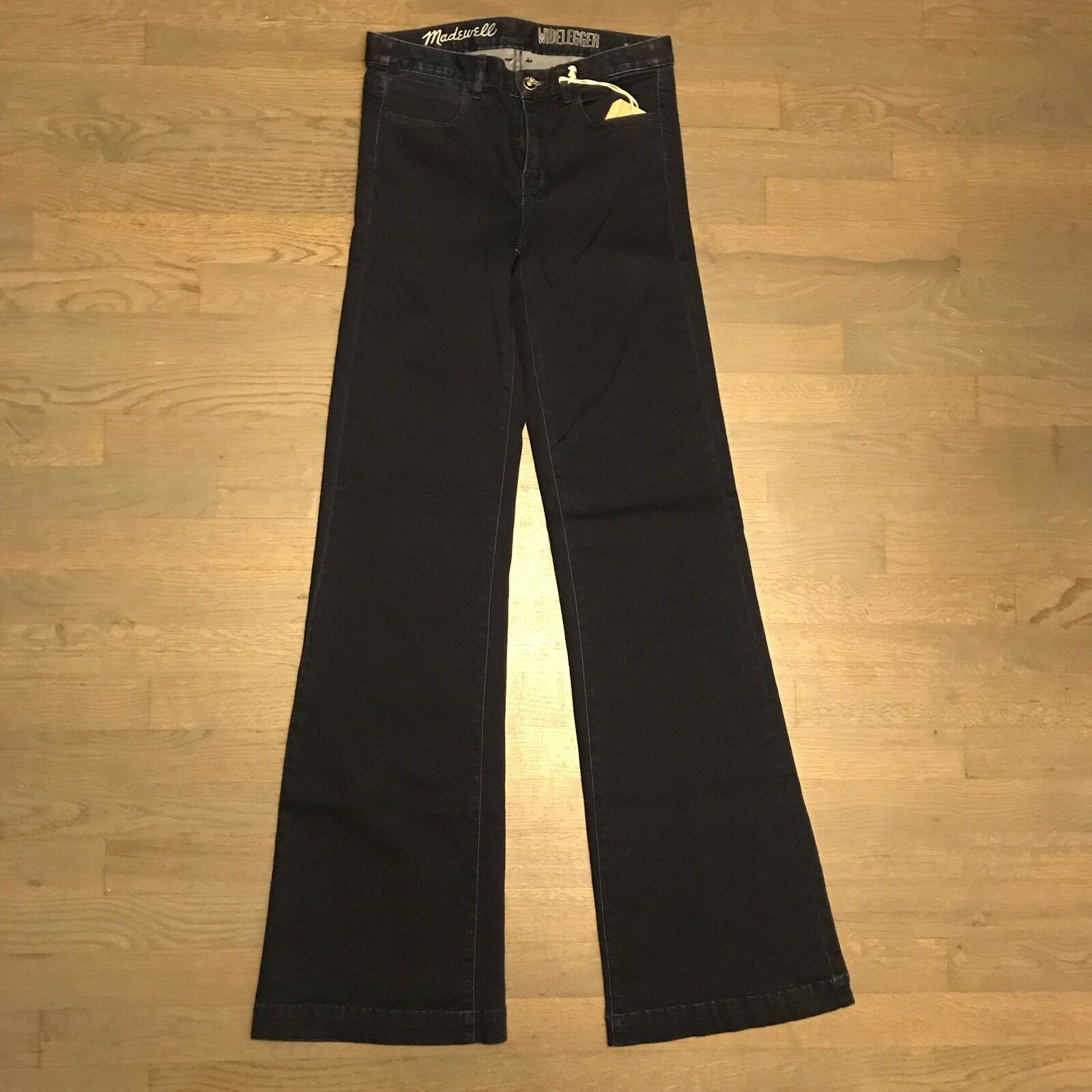 Madewell Widelegger Jeans Dark bluee Wash Size 26x34  NWT Flare Dark 49977