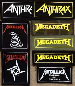 MEGADETH PATCH Embroidered Iron On CLASSIC WHITE LOGO Badge THRASH METAL NEW