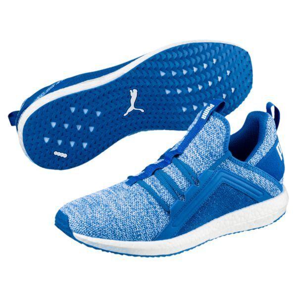 PUMA Mega NRGY Knit Sea-Puma Men's Trainers Shoes Turkish Sea-Puma Knit White 190371 06 6ebf1f