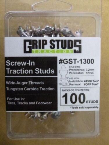 Dirt Mud /& Ice #1300 Tire Grip Studs 100 pk Fork Lift Tire Studs Gripstuds Trac