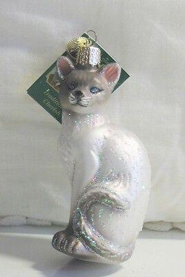 Siamese Cat Glass Ornament
