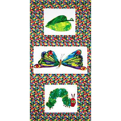 The Very Hungry Caterpillar Transformation Fabric Panel by Makower 100% Cotton