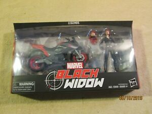 Avengers Marvel Legends Series 6-inch Black Widow with Motorcycle