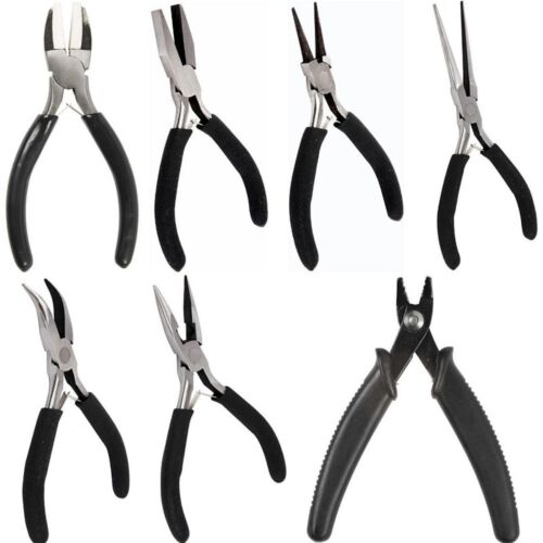 Chain Nose Jewellery Making Bent Nose Craft Pliers Crimping