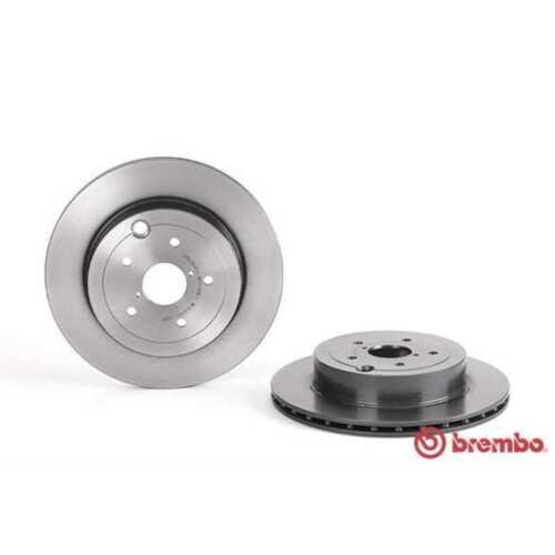 BREMBO 2x Bremsscheiben Innenbelüftet beschichtet 09.A198.11